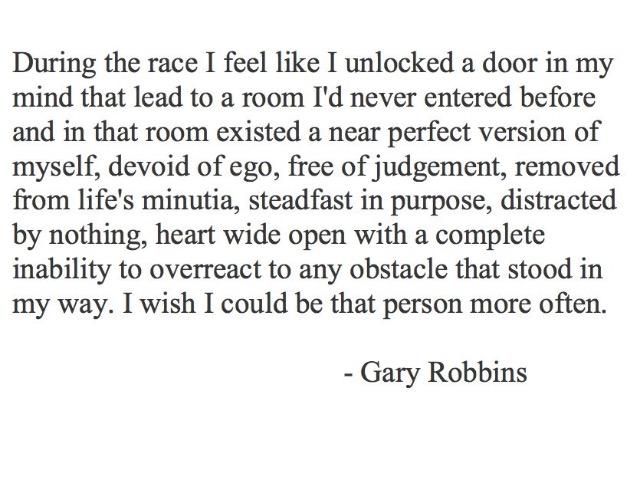 Ultrajuoksija Gary Robbinsin kuvaus tapahtumasta.